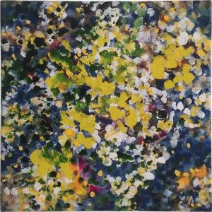 Kerstin Graf, Malerei, Acryl, Blüten, Natur, Frühling, gelb, blau